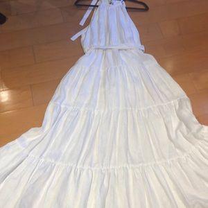 White Limen Long Dress